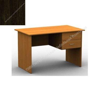 Стол ПМК (офисный) 1200*600*750 с подвесной тумбой, 2 ящика (Венге)