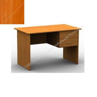 Стол ПМК (офисный) 1200*600*750 с подвесной тумбой, 2 ящика (Вишня оксфорд)