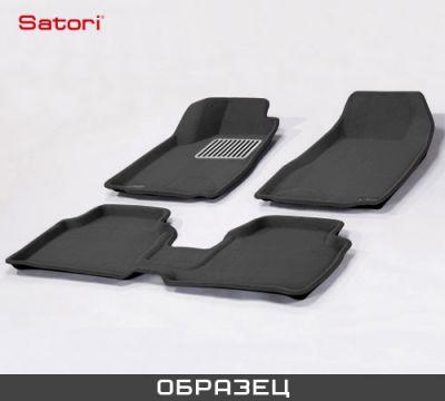 Satori Коврики салона текст.Mazda 6 2008-> Satori с бортиком черные (с металлическим подпятником) SI 05-00072