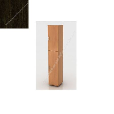 Стеллаж ПМК (офисный) ШК-04/2 высокий , узкий , закрытый , 2 двери 370*380*1960 (Венге)