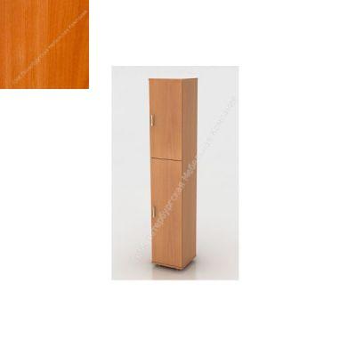Стеллаж ПМК (офисный) ШК-04/2 высокий , узкий , закрытый , 2 двери 370*380*1960 (Вишня оксфорд)