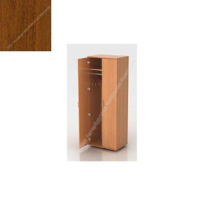 Шкаф ПМК (офисный) Ш-07 гардероб 730*550*1960 , штанга (Темный орех)