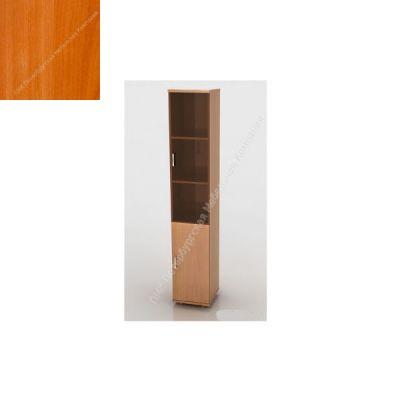 Шкаф ПМК (офисный) ШКС-04 высокий , узкий со стеклом 370*380*1960 (Вишня оксфорд)