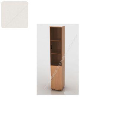 Шкаф ПМК (офисный) ШКС-04 высокий , узкий со стеклом 370*380*1960 (Пепел)