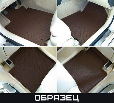 Коврики в салон StarDiamond MB W220 SE/ W140 SE коричневые (3 части) сплошные задки STR69-00013