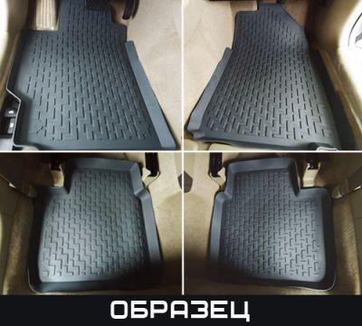 StarDiamond Коврики салона MB X166 GL-Classe 2012-> с бортиками черные (5 частей) 3 ряда сплошные задки ST 69-00294