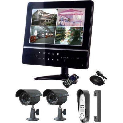 """Комплект видеонаблюдения Falcon Eye 1 панель 2 камеры Цветной 9"""" дисплей, Сенсорные кнопки FE-924KIT"""