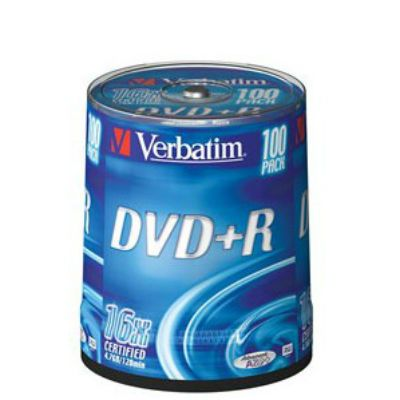 DVD/CD Verbatim DVD+R 4.7Gb (100шт) 54126