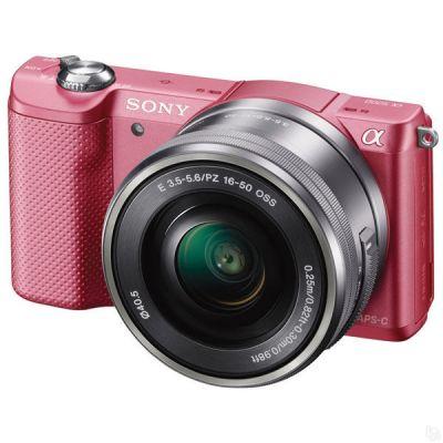 Беззеркальный фотоаппарат Sony ILCE A5000LP Pink ILCE5000LP.CEC