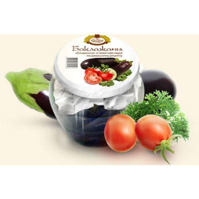 te Gusto Баклажаны обжаренные в томатном соусе по домашнему рецепту (540 мл.)