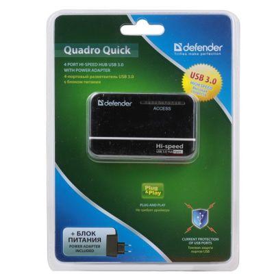 Аксессуар Defender Quadro Quick USB3.0 - 4 порта