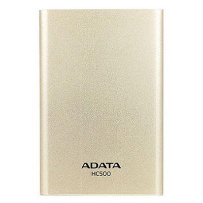 Внешний жесткий диск ADATA HC500 500Gb золотой AHC500-500GU3-CGD