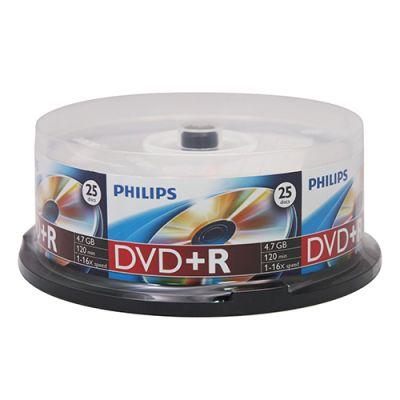 DVD/CD Philips Диск DVD+R 4.7Gb 16x Cake Box (25шт) DR4S6B25F/97