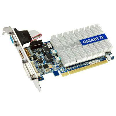 Видеокарта Gigabyte PCI-E nVidia GeForce 210 1024Mb 64bit DDR3 520/1200/HDMIx1/CRTx1 Ret GV-N210SL-1GI