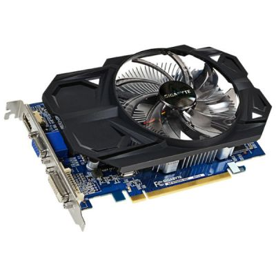 ���������� Gigabyte Radeon R7 240 900Mhz PCI-E 3.0 2048Mb 1800Mhz 128 bit DVI HDMI HDCP GV-R724OC-2GI