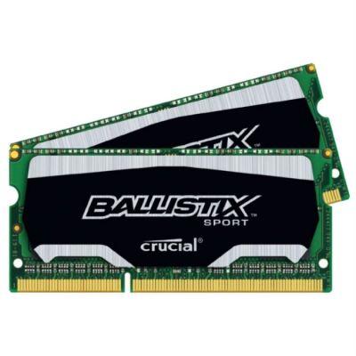 Оперативная память Crucial DDR3L 2x4Gb 1866MHz RTL PC3-14900 CL10 SO-DIMM 204-pin 1.35В kit BLS2C4G3N18AES4CEU