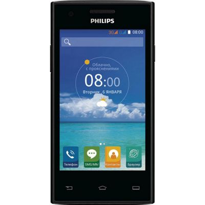 Смартфон Philips S309 4Gb Black 8712581735326