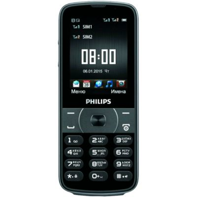 Телефон Philips Xenium E560 Black 867000129664
