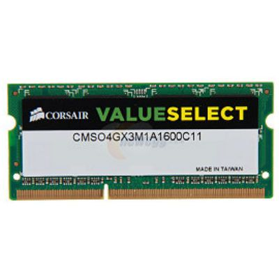 ����������� ������ Corsair SO-DIMM DDR3 4Gb 1600MHz CMSO4GX3M1A1600C11