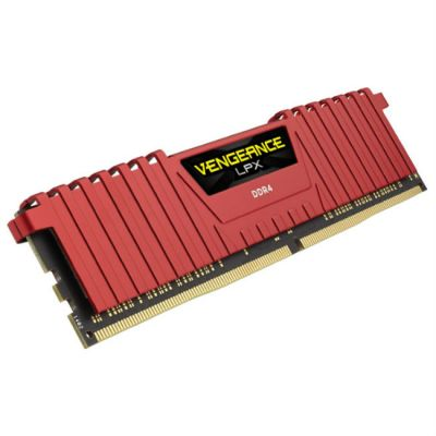 Оперативная память Corsair DDR4 8Gb 2400MHz RTL DIMM 288-pin 1.2В Red CMK8GX4M1A2400C14R