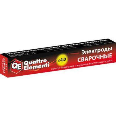 Quattro Elementi Электроды сварочные QUATTRO ELEMENTI рутиловые, 4,0 мм, масса 4,5 кг 770-452