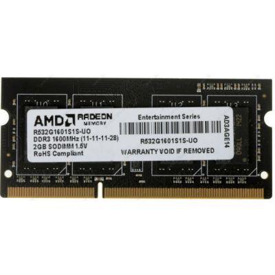 ����������� ������ AMD SO-DDR3 2Gb 1600MHz OEM blue R532G1601S1S-UO