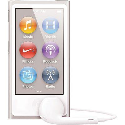 Аудиоплеер Apple iPod nano 7 16GB WHITE & SILVER MKN22RU/A