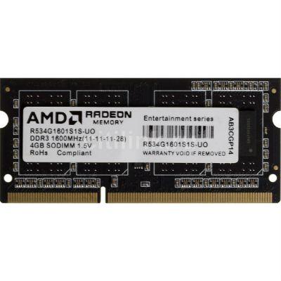 ����������� ������ AMD SO-DDR3 4Gb 1600MHz OEM R534G1601S1S-UO