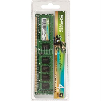 Оперативная память Silicon Power DDR3 4Gb 1333MHz RTL PC3-10600 CL9 DIMM 240-pin 1.5В