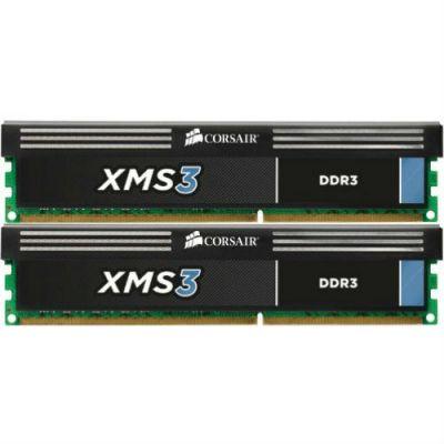 Оперативная память Corsair DDR3 4Gb 1600MHz, 2x2Gb 9-9-9-24, XMS3, 1.5V,Core i5, SandyBridge CMX4GX3M2B1600C9