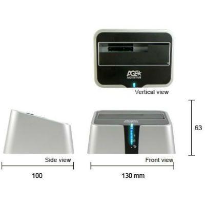 """���-������� Agestar ��� HDD AgeStar 2.5""""&3.5"""" USB3.0 Silver 3UBT2"""