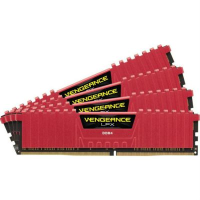 ����������� ������ Corsair DDR4 4x4Gb 2800MHz RTL Unbuff Red CMK16GX4M4A2800C16R