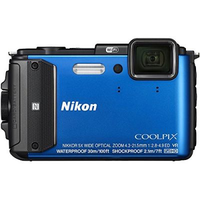 Компактный фотоаппарат Nikon CoolPix AW130 (синий)