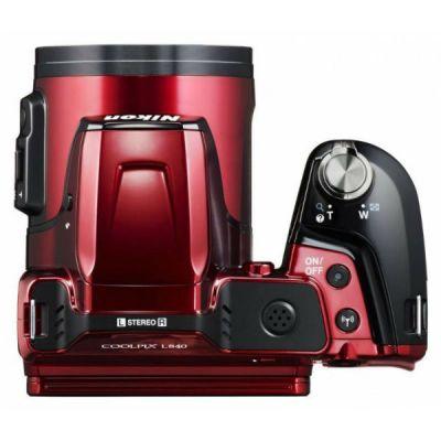 Компактный фотоаппарат Nikon CoolPix L840 (красный) VNA771E1