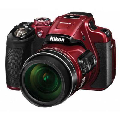 Компактный фотоаппарат Nikon CoolPix P610 (красный) VNA761E1