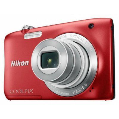 Компактный фотоаппарат Nikon CoolPix S2900 (красный) VNA832E1
