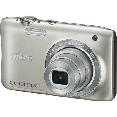 Компактный фотоаппарат Nikon CoolPix S2900 (серебристый) VNA830E1