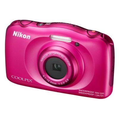 Компактный фотоаппарат Nikon CoolPix S33 (розовый) VNA852KR01