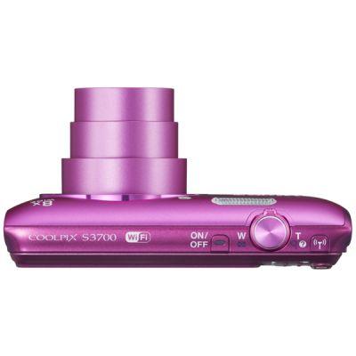 Компактный фотоаппарат Nikon CoolPix S3700 (розовый) VNA823E1