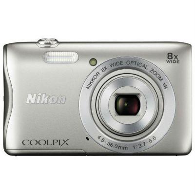 Компактный фотоаппарат Nikon CoolPix S3700 (серебристый) VNA820E1
