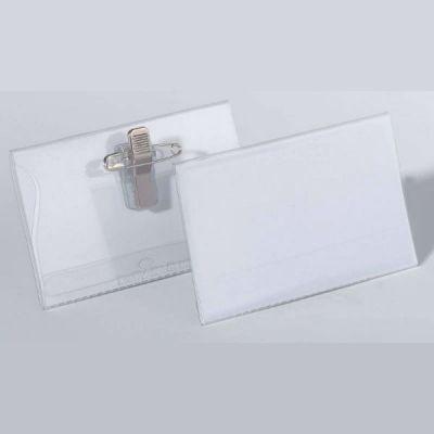 DURABLE Бейдж с комбинированным зажимом 50шт/уп (булавка+зажим) 54*90 мм 810119
