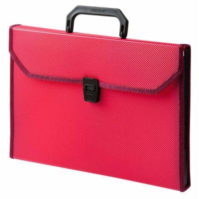 Бюрократ Портфель PP24TLRED 24 отделения А4 пластик 0.8мм красный PP24TLRED