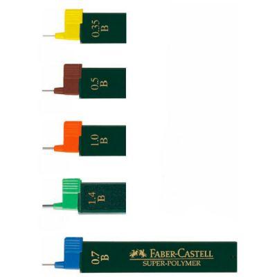 Faber-Castell Грифели графитные Superpolymer 120900 100мм твердость HB 12шт в тубе 120900