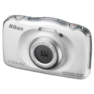 Компактный фотоаппарат Nikon CoolPix S33 (белый) VNA850KR02