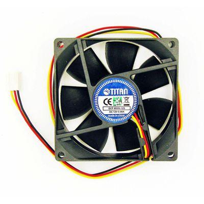 Вентилятор Titan для корпуса 80x80x25 3pin 23dB 2000rpm 67g DCF-8025L12S
