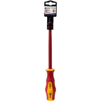 КОБАЛЬТ Отвертка диэлектрическая Ultra Grip SL 8,0 х 175 мм CR-V, двухкомпонентная рукоятка (1 шт.) подвес 646-478