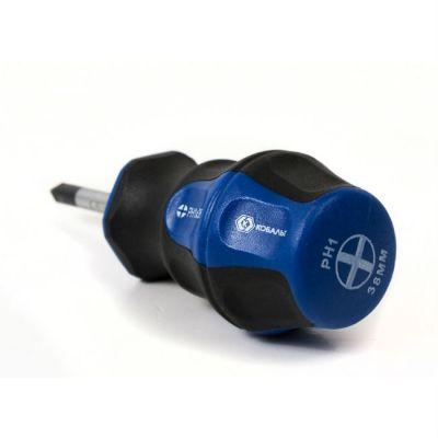 Отвертка КОБАЛЬТ Ultra Grip PH-1 х 38 мм CR-V, двухкомпонентная рукоятка (1 шт.) подвес 646-386
