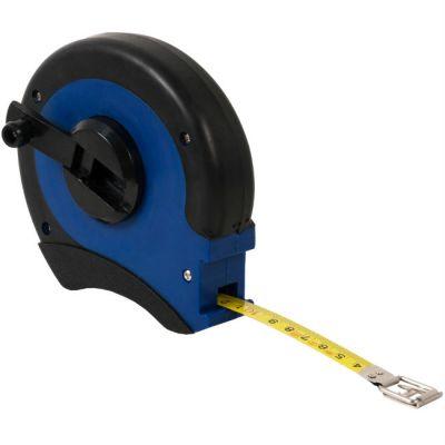 КОБАЛЬТ Рулетка геодезическая 20м x 13мм закрытый двухкомпонентный корпус (стальная лента, ускоренная перемотка) 646-911