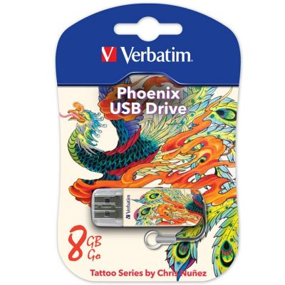 Флешка Verbatim 8GB Mini Tattoo Edition (Феникс) 49883