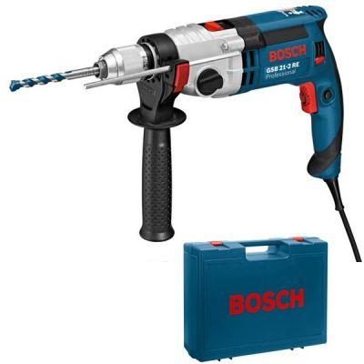 Дрель Bosch ударная GSB 21-2 RE ( 1100 Вт, БЗП.13мм, 2скор, 40нм, 2,7кг, кейс) 060119C500